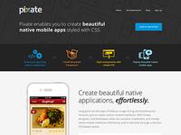 Pixate Landing Page