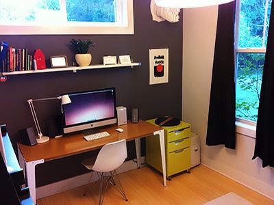 Office desk space photo rebound