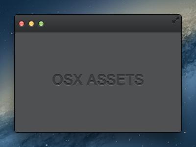 OSX Assets (Dark) mac osx app dark ui free freebie