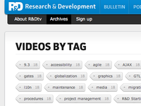 Archive page tags