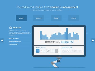 vidIQ Marketing Page landing marketing homepage onepage