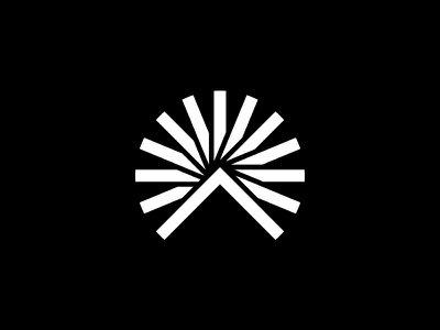 Ascend mountain identity logo branding