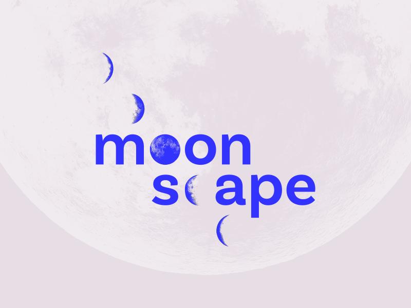 Moonscape moon gala event design identity typography branding houston