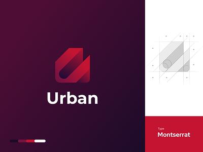 Urban - Logo tech website app design typography branding tech design techno bold gradient logo logo gradient logo computer logo 2020 logo modern logo developer coding technology tech. logo tech