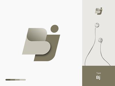 BJ lettermark logo bold logo monoline logo gradient branding logo design electronic web logo robot logo tech logo bj logo j logo 3d logo letterlogo lettermark logotype