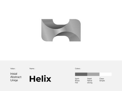 Helix - Logo 3D logotype vector logo gradient logo 3d logo design lettermak logo gradient