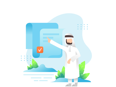 SHAIKH DIGITAL vector cute illustration landscape design clean ui landing page illustration