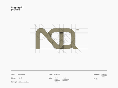 NQ logotype typeface typography logotype font lettering type logo icon