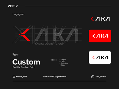 AKA - rebranding logo drawing background product work set element template creative vector company concept badge label graphic identity brand business branding design logo
