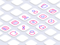 Vision App landing page icon set project
