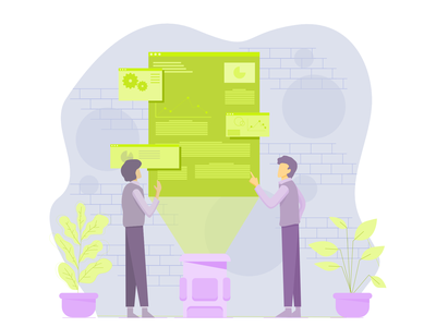 Office Discussion Flat Illustration design minimal web vector illustration