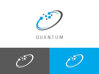 Quantum Computing Logo app flat design vector web minimal ui branding logo