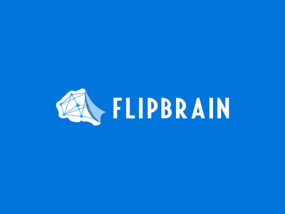 FLIPBRAIN logo concept flat design vector web app logo ui
