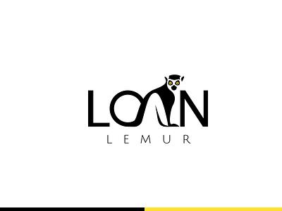 Lemur Logo concept concept identity vector branding flat design logo
