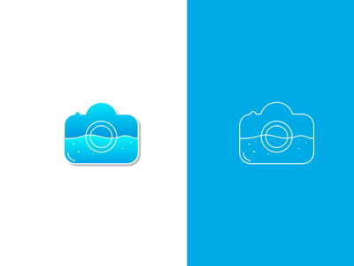 Underwater Photography web identity minimal branding vector logo design