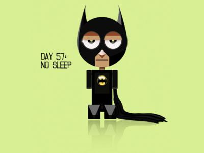 Insomnia vexel pixel art vector art micro character lego flat colors design illustration art quarantine black minimal sarcasm funny web comics batman