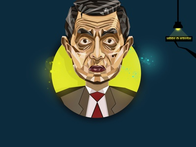 Mr. Bean mr bean mrbean icon colour grading typography vector logo branding comics editing illustration design