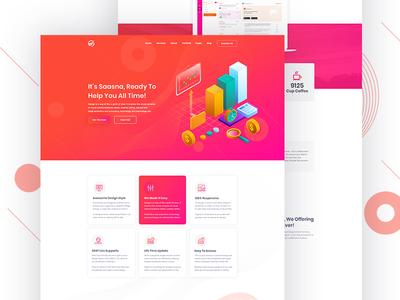 Sass Landing page Design