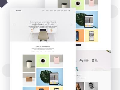 Minimal Agency Website Design
