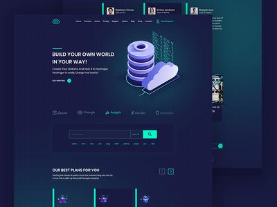 New Homepage Design for Hosting Website