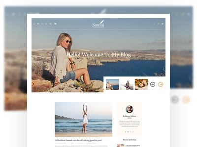 Blog Website Homepage Design