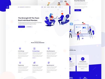 Portfolio Website Homepage Design