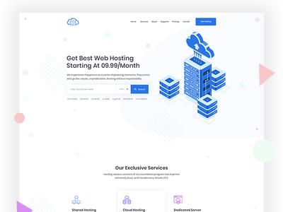 Hosting website design