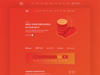 Hosting Website Landing Page Design