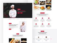 Chef Website UI Design