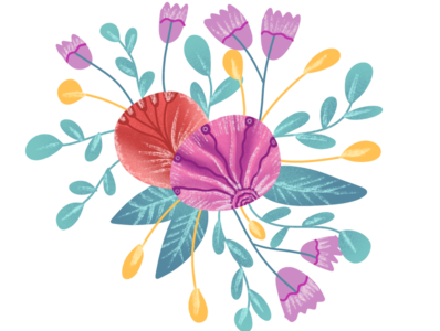 How to create easy floral illustration in Procreate | iPad Art