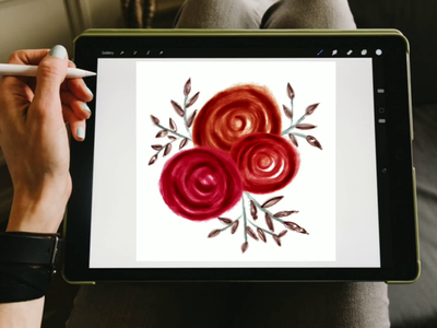 Floral composition | Procreate | iPad Art | Easy Drawing Tut