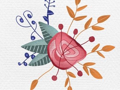 Floral illustration in procreate   iPad Art