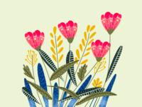 Floral Digital illustration in Procreate | iPad Art