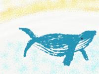 Whale in Procreate | iPad Art