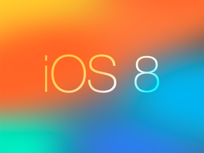 iOS 8 Transparency Blurred Background