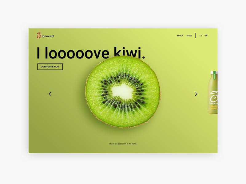 Innocent kiwi website idea concept branding advertising austria designer innocent kiwi art design