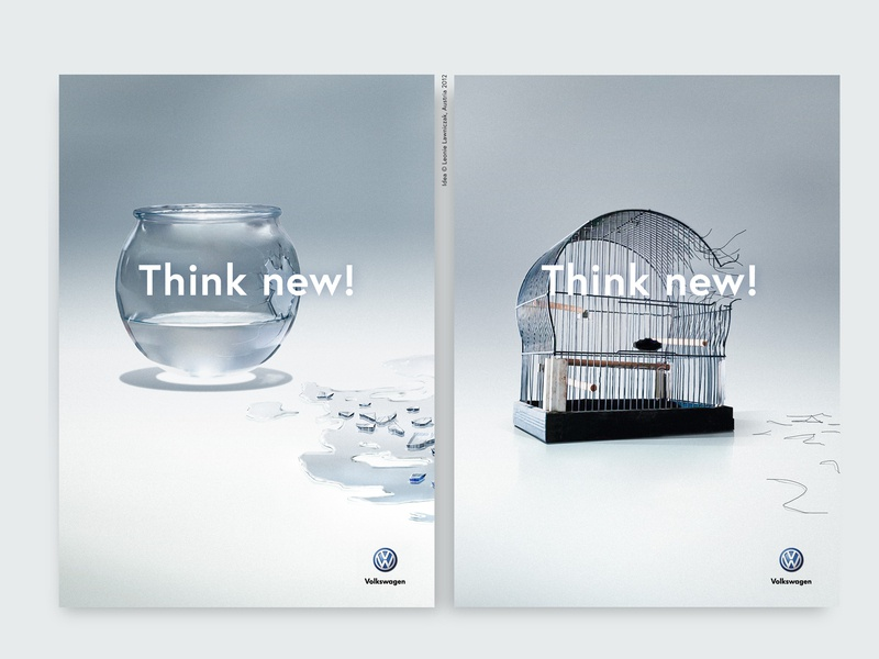 Ad - Think New artdirection typo design austria leonie lawniczak breakthrough adventure creative adobe campgne illustration photo photoshop think new leonielawniczak concept idea advertising ad