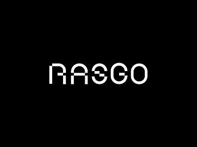 Rasgo Logotype ai machine learning font custom type custom lettering futuristic techy custom font