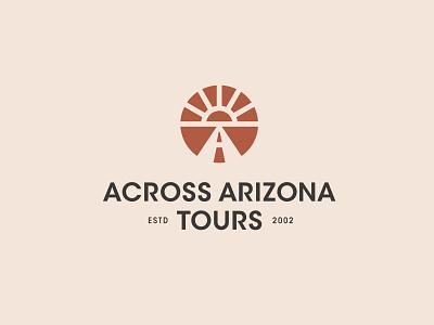 Across Arizona Tours Logo logo tours arizona road sunrays sun