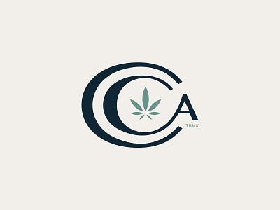 CAA logo leaf marijuana weed identity cannabis branding