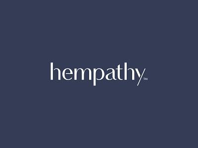 Hempathy logo lotion cbd dante typemark lettermark feminin wellness cannabis hemp