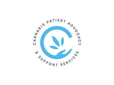 CPASS cannabis branding uk health advocacy blue patients hand leaf non-profit cannabis