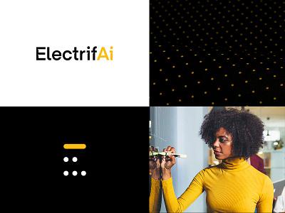 ElectrifAi identity technology moodboard logotypedesign machine learning artificial intelligence logo design