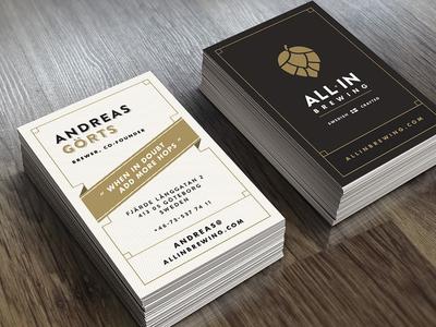 All In Brewing - biz card