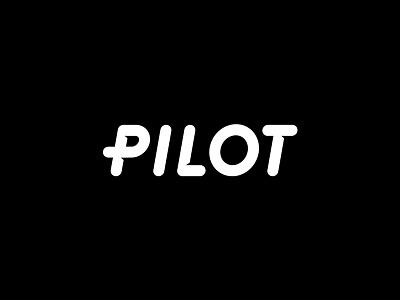 Pilot wordmark gaming wordmark typography bubble text logo pilot font