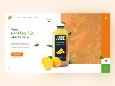 Orange Fruit Juice concept. V2