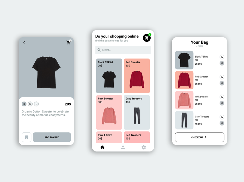 Clothes E-Shop Mobile App clothes ecommerce e-commerce design e-commerce e-shop e-commerce shop e-commerce app mobile design mobile app design mobile app