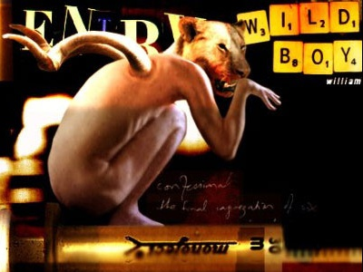 Burroughs - The Wild Boys photo collage photography animals lion art