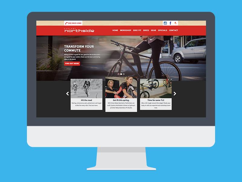 Cyclery Northside cyclery bike website website responsive