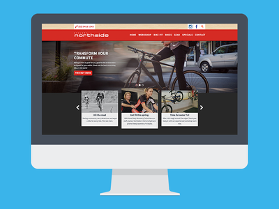 Cyclery Northside cyclery bike website website responsive